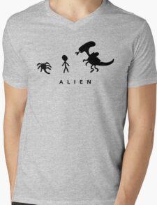 Alien. (BLACK) Mens V-Neck T-Shirt