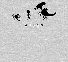 Alien. (BLACK) Womens Fitted T-Shirt