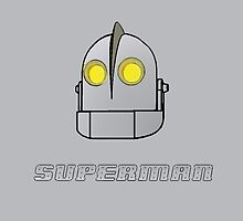 IRON GIANT THROW PILLOW - SUPERMAN by whitelash