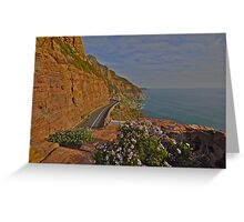 Scenic Cape town drive Greeting Card
