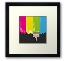 Paint and paint brush Framed Print