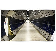 space station / tube station Poster