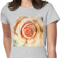 Rose Abstract Womens Fitted T-Shirt