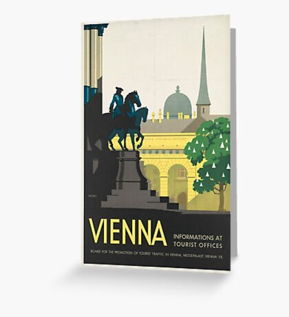 Vintage Travel Poster - Vienna Greeting Card