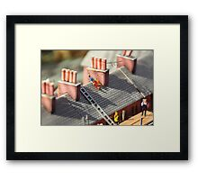 Miniature Workmen Framed Print