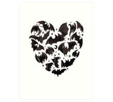 Bat Heart Art Print