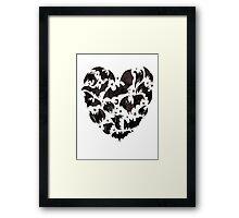 Bat Heart Framed Print