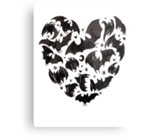 Bat Heart Metal Print