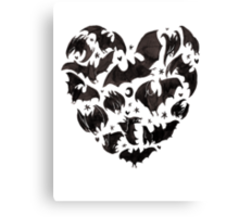 Bat Heart Canvas Print