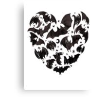 Bat Heart Canvas Print