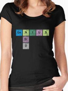 NERD GENIUS!GENUIS NERD - Perodic Table Scrabble Women's Fitted Scoop T-Shirt