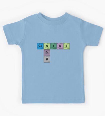NERD GENIUS!GENUIS NERD - Perodic Table Scrabble Kids Tee