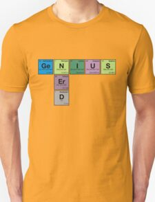 NERD GENIUS!GENUIS NERD - Perodic Table Scrabble T-Shirt