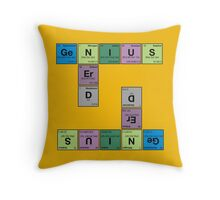 NERD GENIUS!GENUIS NERD - Perodic Table Scrabble Throw Pillow