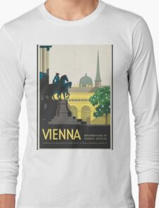 Vintage Travel Poster - Vienna Long Sleeve T-Shirt