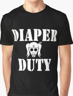 Diaper Duty Funny Gas Mask Graphic T-Shirt