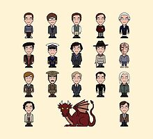 A Field Guide to the Common Cumberbatch (pillow/bag) by redscharlach