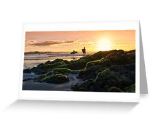 Two Surfers Greeting Card
