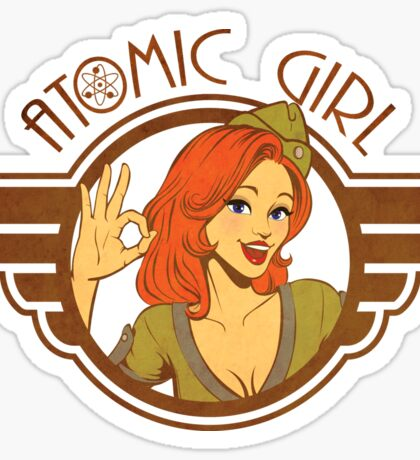 Atomic Girl  Sticker