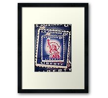 Statue of Liberty Collage Framed Print