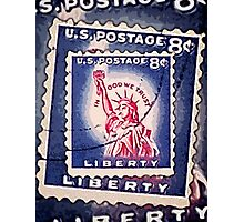 Statue of Liberty Collage Photographic Print