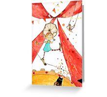 Pippi at the circus Greeting Card