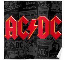 AC/DC FONT LOGO RED Poster