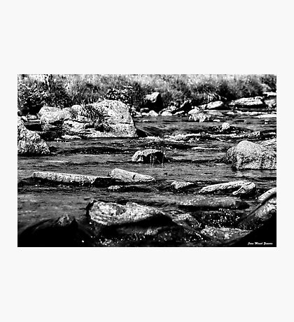 RIVER BW Photographic Print
