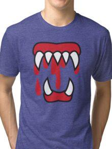 Monster teeth costume  Tri-blend T-Shirt