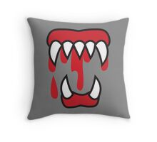 Monster teeth costume  Throw Pillow
