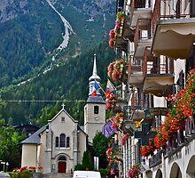 Church in Chamonix in Haute-Savoie, France by Chrisele