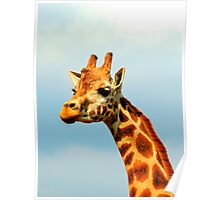 Giraffe and a Cloudy Sky Poster