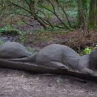 Otter Log Sculpture by Deb Vincent