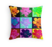 Warhol Flowers Throw Pillow