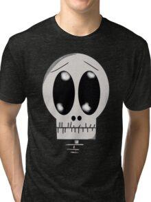Worried Skeleton Tri-blend T-Shirt