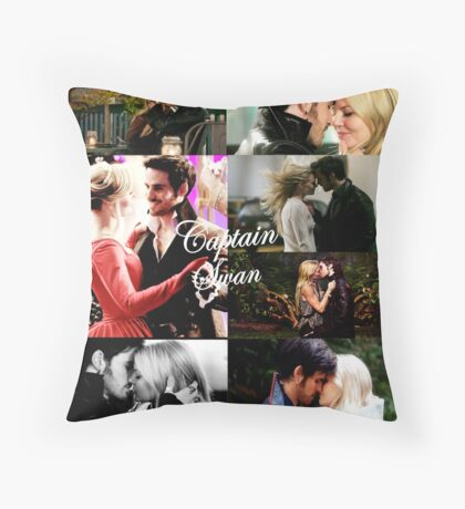 Captain Swan Throw Pillow