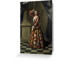 MRS. HESTER BOOTH AS HARLEQUIN  J.ELLYS PORTRAYED MRS BOOTH   AKA HESTER SANTLOW DANCER AND ACTRESS Greeting Card