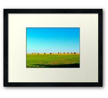 BARRELS. Framed Print
