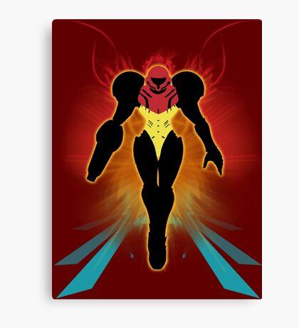 Super Smash Bros. Samus Silhouette Canvas Print