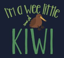 I'm a WEE little kiwi with New Zealand map Kids Clothes