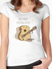 NEW GUITAR Women's Fitted Scoop T-Shirt