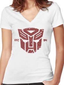 Legendary Autobots Women's Fitted V-Neck T-Shirt