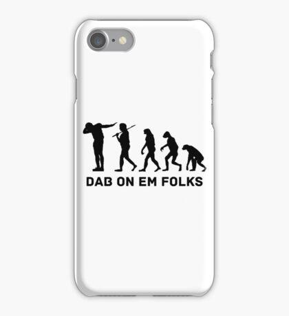 Dab evolution iPhone Case/Skin