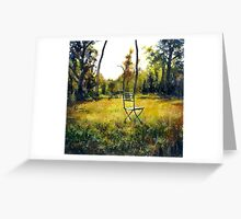 Sunlight & Chair Greeting Card