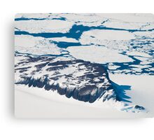 Antarctica from above #6 Canvas Print