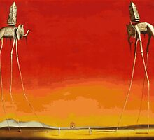 Salvador Dali - Elephants by elftail