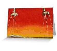 Salvador Dali - Elephants Greeting Card