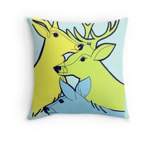 Pastel Deer Throw Pillow