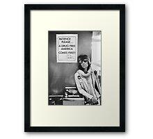 Drug Free America - Halftone Series Framed Print