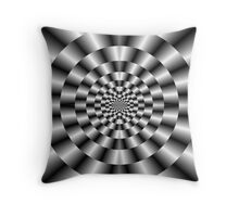 Concentric Rings in Monochrome Throw Pillow